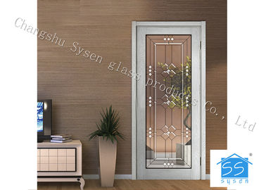 "Cina Entry Door Decorative Panel Glass 22"" * 64"" / Custom Size Steel Frame Material pemasok"