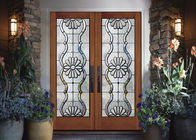 Cina Black Patina Internal Decorative Sliding Glass Door Tambah Cahaya perusahaan